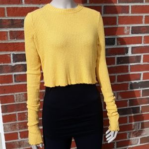 Intimately Free People S Crop Waffle Knit Thermal